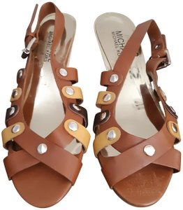 Michael Kors Brown and Yellow Sandals