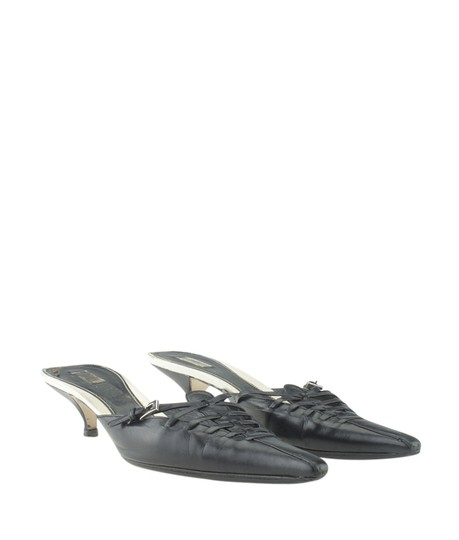 Prada Leather Black Mules Image 1