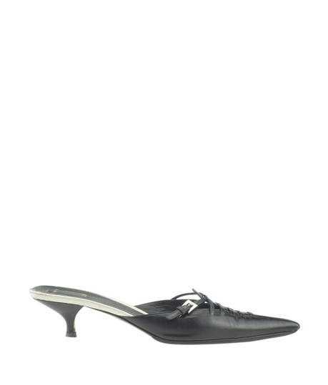 Prada Leather Black Mules Image 2