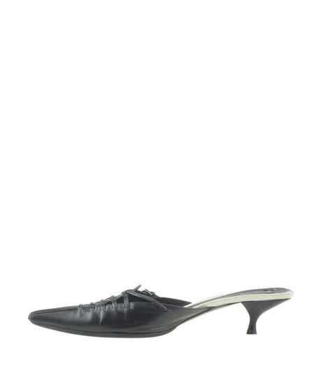 Prada Leather Black Mules Image 3
