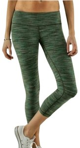 Lululemon Lululemon Rare Space Dye Fatigue Green Wunder Under Crop Leggings