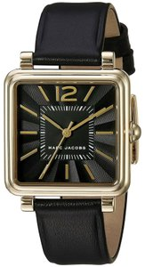 Marc Jacobs Vic Black Leather Strap Watch
