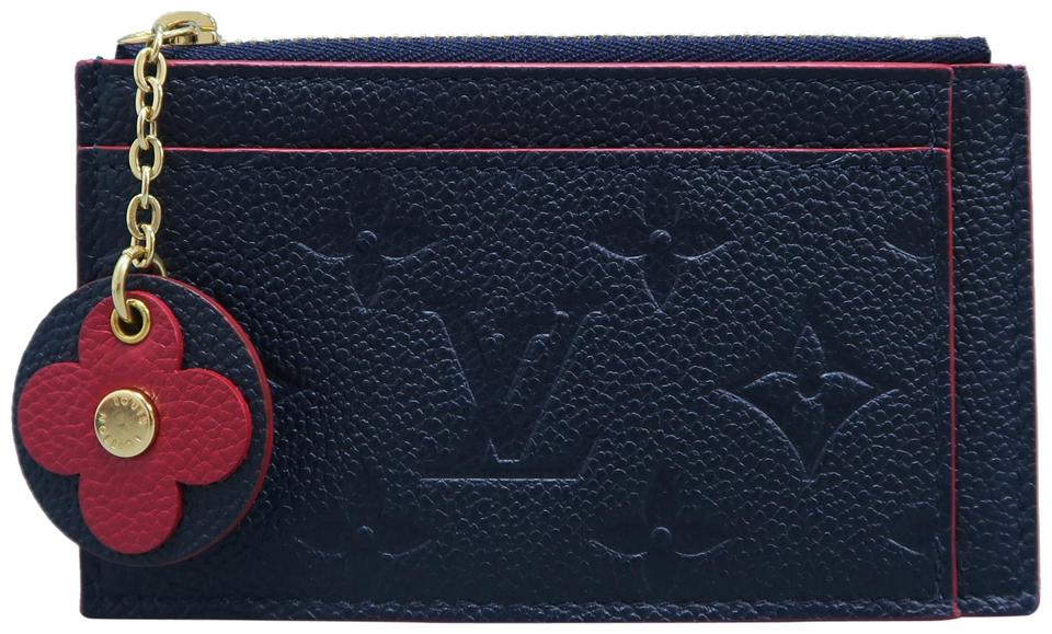 581d80b4 Navy Zipped Card Holder Wallet