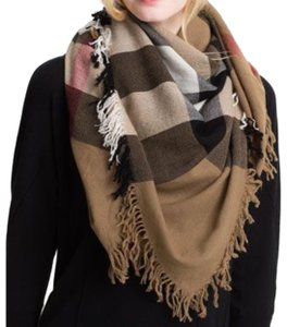 Burberry House Check Colour Merino Wool Square Scarf / Wrap