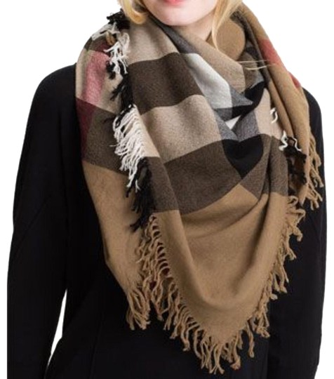 Burberry House Check Colour Merino Wool Square Scarf / Wrap Image 0
