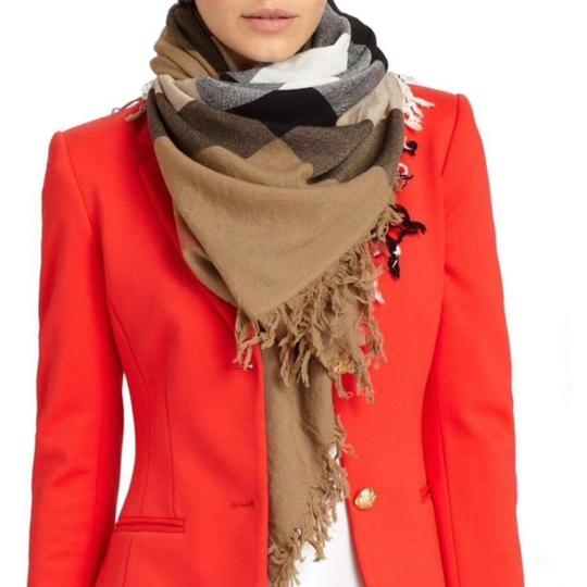 Burberry House Check Colour Merino Wool Square Scarf / Wrap Image 1