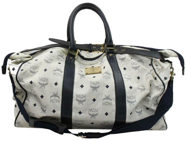 Item - Duffle Monogram Visetos Boston with Strap 870916 White Coated Canvas Weekend/Travel Bag