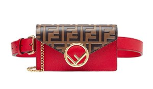 Fendi Forever Zucca Belt Cross Body Bag