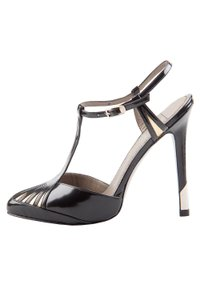 Versace Metalic Patent Leather Black Pumps