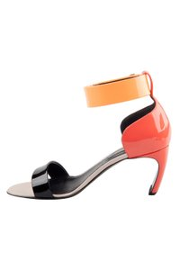 Nicholas Kirkwood Patent Leather Ankle Multicolor Sandals