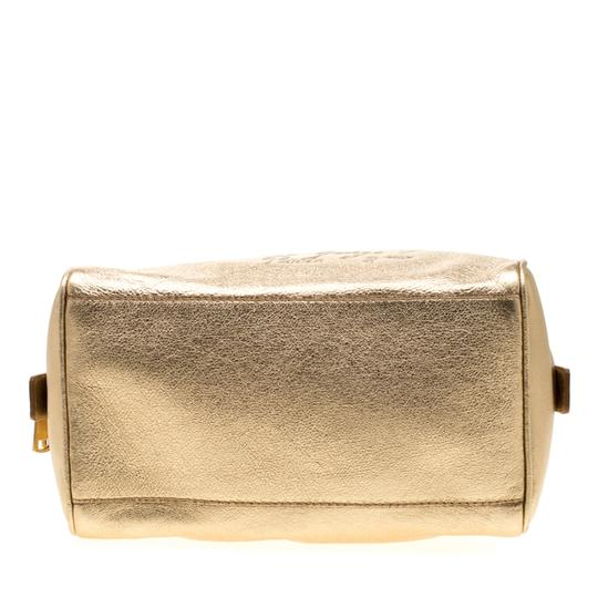 Saint Laurent Leather Mini Satchel in Gold Image 6