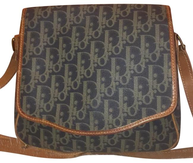 Item - Crossbody Cristian Olive Green Navy Blue and Brown Leather Weekend/Travel Bag
