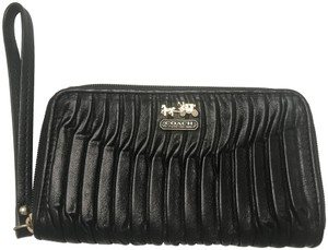 Coach Phone Universal Case Wallet Wristlet in Black Gold