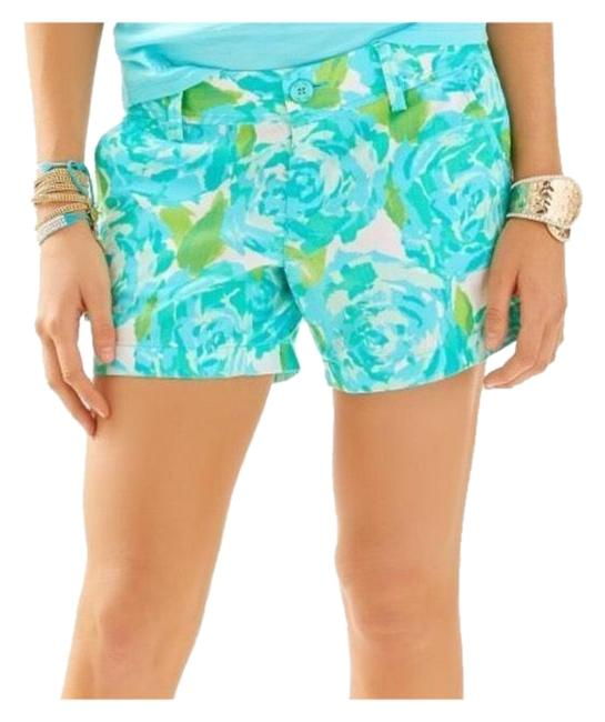 Item - Blue and Green The Callahan In Poolside Shorts Size 00 (XXS, 24)