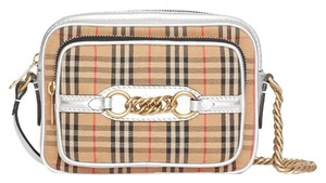 Burberry Vintage Check Chain Link Cross Body Bag