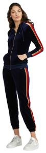 Aviator Nation Navy Velour Raglan Hoodie & Navy Velour Matching Sweatpants