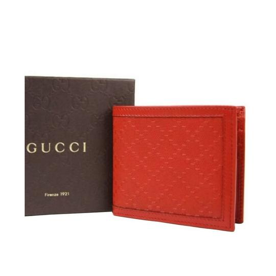 Gucci Red Hillary Lux Leather Bifold Wallet 225826 6516 Groomsman Gift Image 1