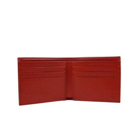 Gucci Red Hillary Lux Leather Bifold Wallet 225826 6516 Groomsman Gift Image 3