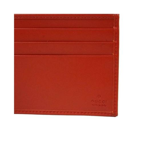 Gucci Red Hillary Lux Leather Bifold Wallet 225826 6516 Groomsman Gift Image 4