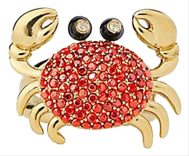 Item - Multicolor Shore Thing Pave Crab Size 8 Ring