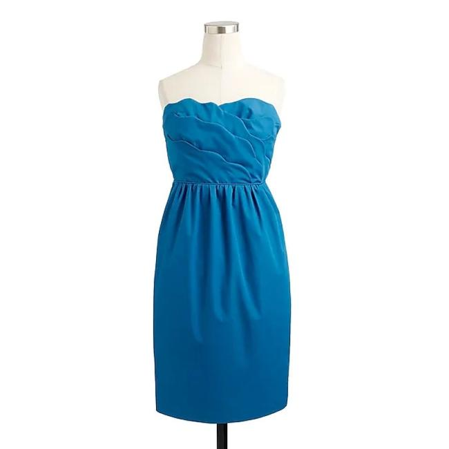 Item - Navy Cotton Taffeta Collection Samantha 43003 - Never Been Worn Traditional Bridesmaid/Mob Dress Size 14 (L)