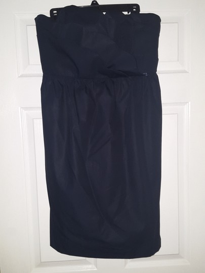 J.Crew Navy Cotton Taffeta Collection Samantha 43003 - Never Been Worn Traditional Bridesmaid/Mob Dress Size 14 (L) Image 2
