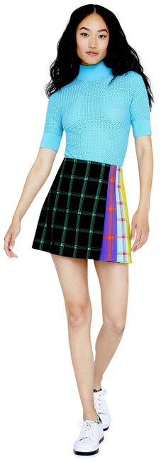 Item - Black/Green with Tag Semira Contrast Plaid Skirt Size 2 (XS, 26)