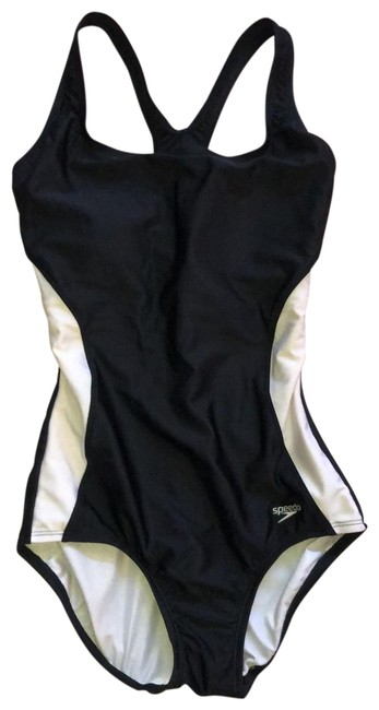 Item - Black and White Classic One-piece Bathing Suit Size 6 (S)