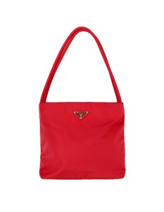 Prada Nylon Handles Tote in Red