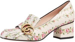 Gucci Floral/White Flats