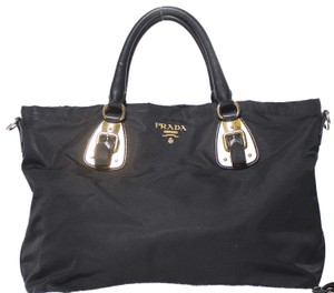Prada Nylon Convertible Tote in Black