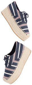Tory Burch Navy Multi Wedges
