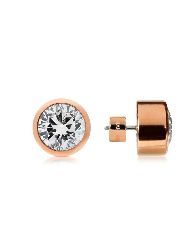 d22d5db12ad74 Michael Kors Rose Gold New Brilliance Crystal Stud Earrings 41% off retail