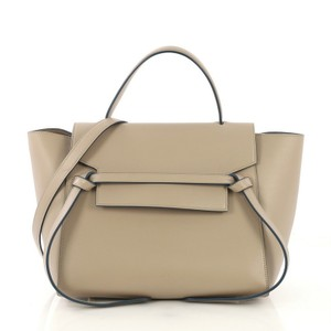 Céline Leather Tote in taupe