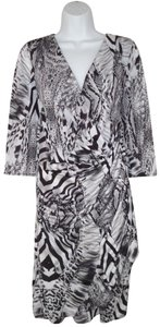 Elana Kattan short dress Animal Print Zebra Faux Wrap Stretch on Tradesy