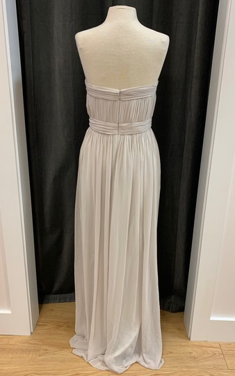 Donna Morgan Mist Chiffon Kyle Strapless Gown with Beaded Detail Formal Bridesmaid/Mob Dress Size 12 (L) Image 4