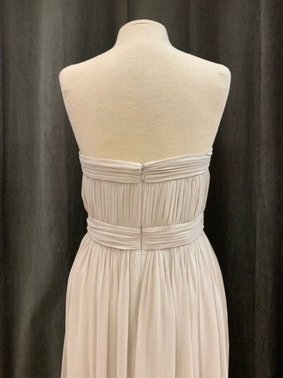 Donna Morgan Mist Chiffon Kyle Strapless Gown with Beaded Detail Formal Bridesmaid/Mob Dress Size 12 (L) Image 5