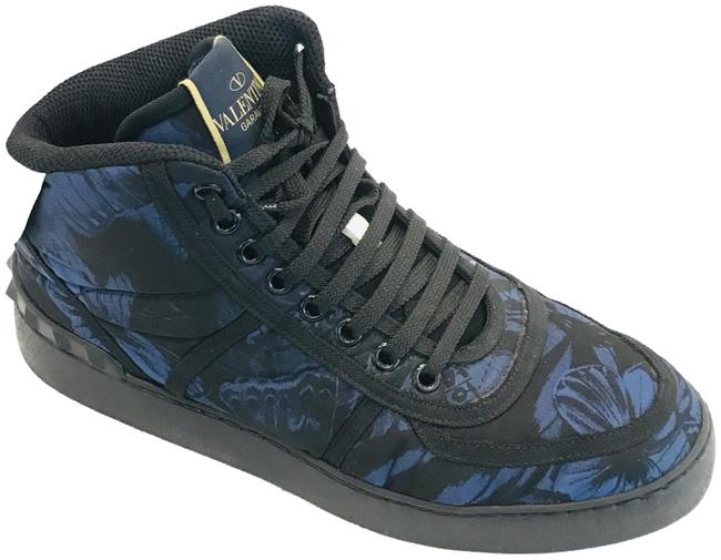 Item - Blue Diasy Floral High Top Sneakers Size US 8 Regular (M, B)
