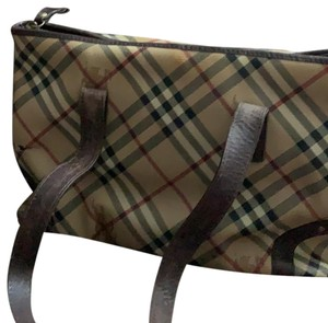 Burberry Brown, black, white and red Messenger Bag