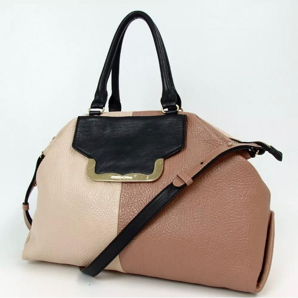 a0cff00a98 Chloé See By and Handbag Black/ Tan Brown Off White Leather Shoulder Bag