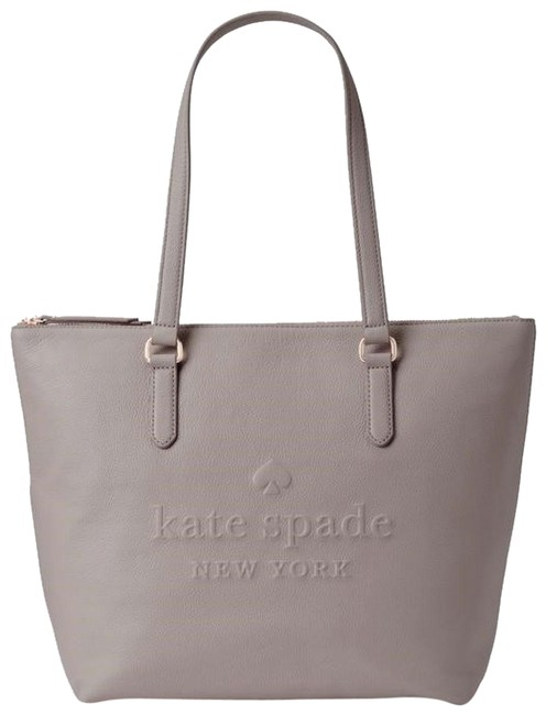 Item - Larchmont Avenue Logo Penny Large Gray Leather Tote