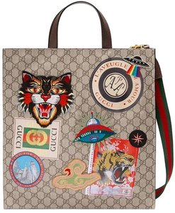 Gucci Angry Cat Gg Supreme Web Tote Cross Body Bag