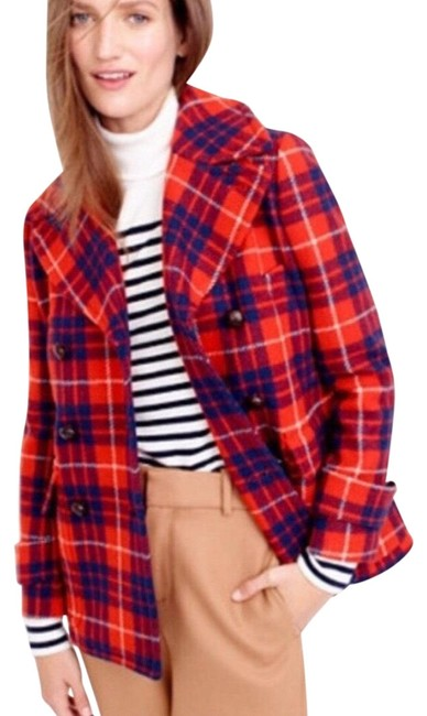 Item - Red Blue Nwot. Wool Coat Size 2 (XS)
