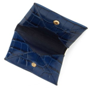 Tory Burch Tory Burch Navy Parker Embossed Card Wallet