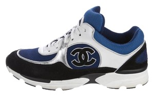 Chanel Cclogo Trainers Rare Rarefind White, blue, black and silver Athletic