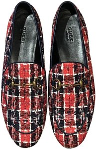 Gucci Tweed - Royal Blue & Red Flats