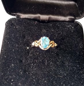 Jared Rich Color Topaz Ring 10k and 925