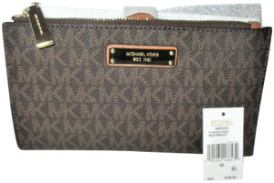 Michael Kors Signature Adele Double Zip iPhone 7 Plus Wristlet Wallet, Case