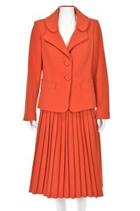 Charles Chang Lima Pleated Skirt Suit