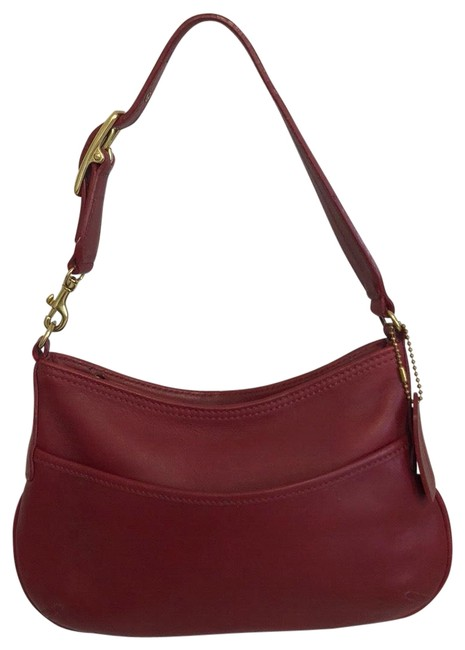 Item - F23-9295 Red Leather Hobo Bag